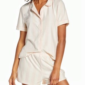 Madewell Shorts Sleep Set In Conch NEW Large PJ